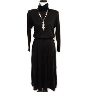 Jeremy Stevens Vintage Turtleneck Dress Black 10